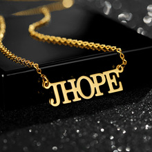 New Font Custom Name Neckalce For Women Men Personalized Stainless Steel Chain Gold Letter Pendant Jewelry Fashion BFF Gifts