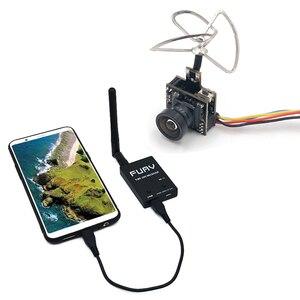 Image 1 - 5.8G UVC Receiver + 25mW/100mW 5.8G 48CH VTX 600TVL FPV Camera Transmitter Video Downlink OTG VR Smartphone for FPV Racing Drone