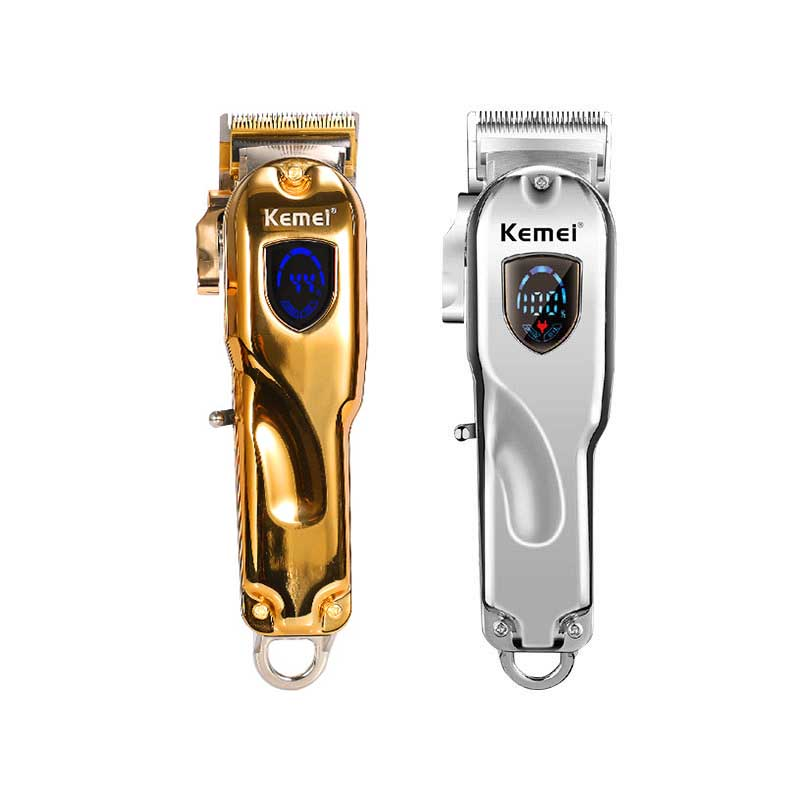 Kemei Clipper Gold Silver Electric Wireless Trimmer Wireless Portable High Power Barber Kit Cordless Hair Clipper Hair Trimmer