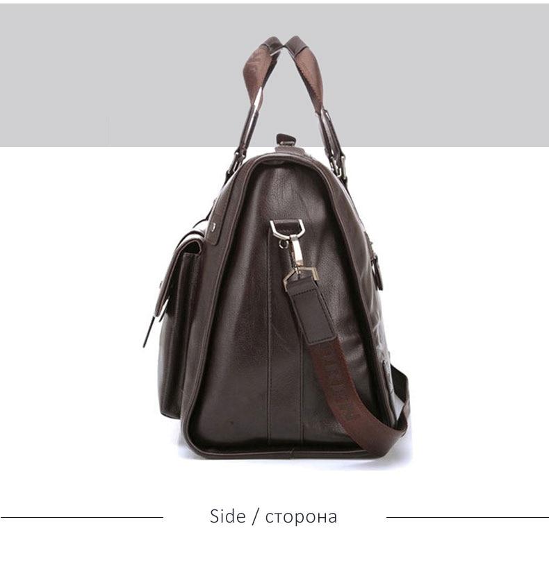 H27056aa0eb2d4950bbbe0d323a413aedg Men Leather Black Briefcase Business Handbag Messenger Bags Male Vintage Shoulder Bag Men's Large Laptop Travel Bags Hot XA177ZC