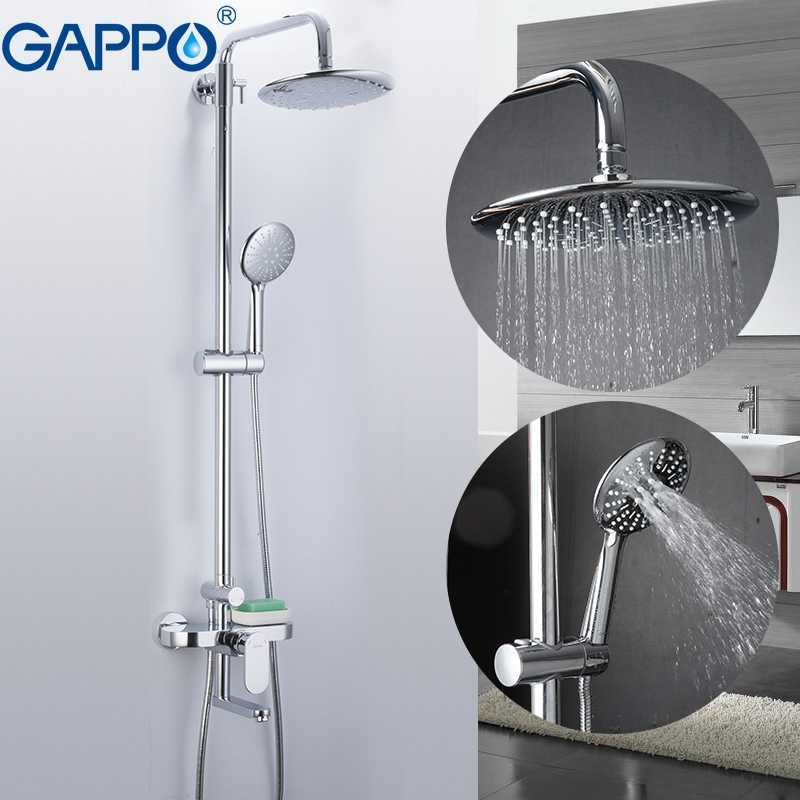 GAPPO ระบบห้องน้ำก๊อกน้ำผสมอ่างอาบน้ำอ่างอาบน้ำก๊อกน้ำน้ำตกชุดฝักบัวหัวฝักบัวอาบน้ำ
