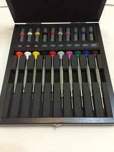Image 3 - BERGEON 30081 A10 플라스틱 헤드 스크루 드라이버 시계 수리 10 조각 나무 상자