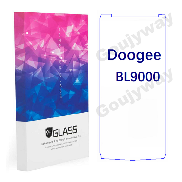 2.5D 9 H กระจกนิรภัยสำหรับ Doogee BL9000 ป้องกันหน้าจอ Toughened ป้องกันฟิล์มด้านหน้า Doogee BL9000 Scratch - proof