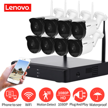 LENOVO Wireless CCTV System 1080P  outdoor CCTV Camera 2MP 8CH NVR IP IR CUT  IP Security System video Surveillance