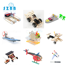 2019 Sz Steam 9 Sets Stem Education Kits Diy Children Science Project Toys Boy Creative Wooden Model School Physics Experiments wooden hydraulic excavator model handmade scientific experiments steam