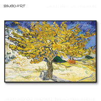 Free Shipping High Quality Van Gogh Mulberry Oil Painting on Canvas Hand painted Famous Van Gogh Art Mulberry Tree Oil Painting