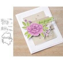 ЙК резки металла умирает и снимите резиновый марки цветы письма, записки ремесла DIY карты сделать трафарет плесень лист шаблон