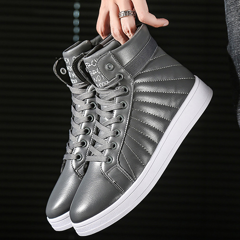 Boots men Winter shoes male Lace up Short plush Warm Soft PU leather Ankle boots for men Non slip wear resistant Snow boots in Snow Boots from Shoes