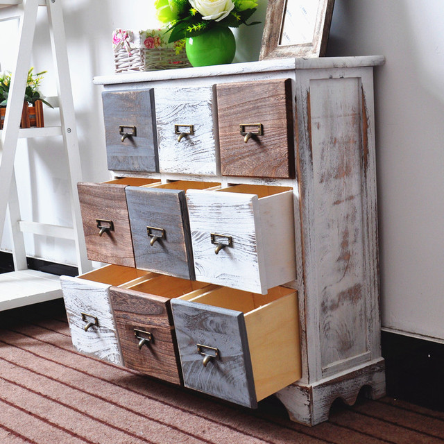 Retro Style Living Room Storage Table 4