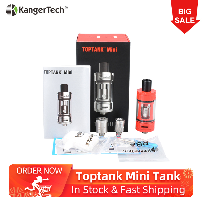 Original Kangertech Toptank Mini 4ml Atomizer Top Filling Airflow Control With SOCC Coil RBA Mini Plus Coil Electronic Atomizer