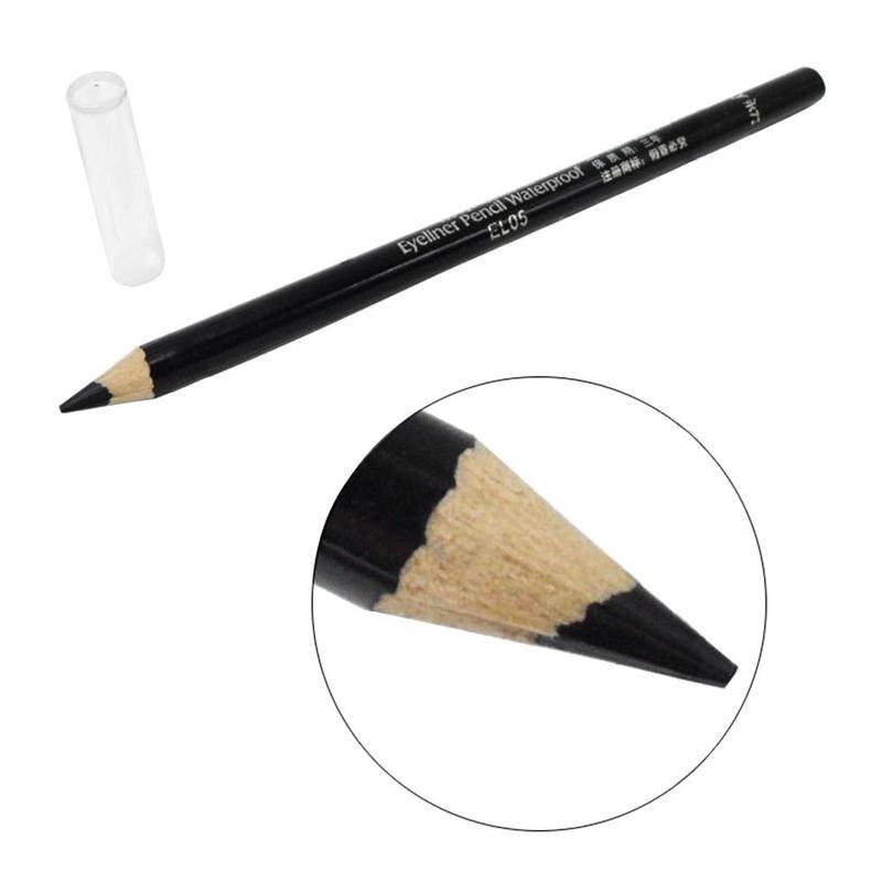 2pcs Black Eyeliner Pencil Waterproof Smooth Soft Long Lasting Eyeliner Pen Cosmetic No Blooming Makeup Tools