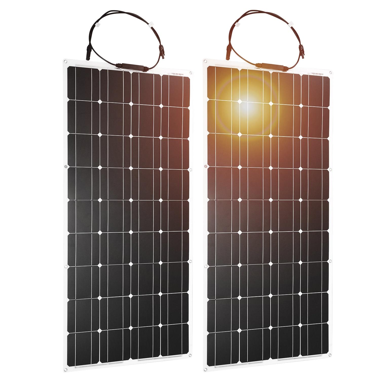 Dokio-Panel Solar Flexible monocristalino, 100W, 200w, 400w, 600w, 800W, 1000W, Kit de Panel Solar para sistema RV/barco/hogar