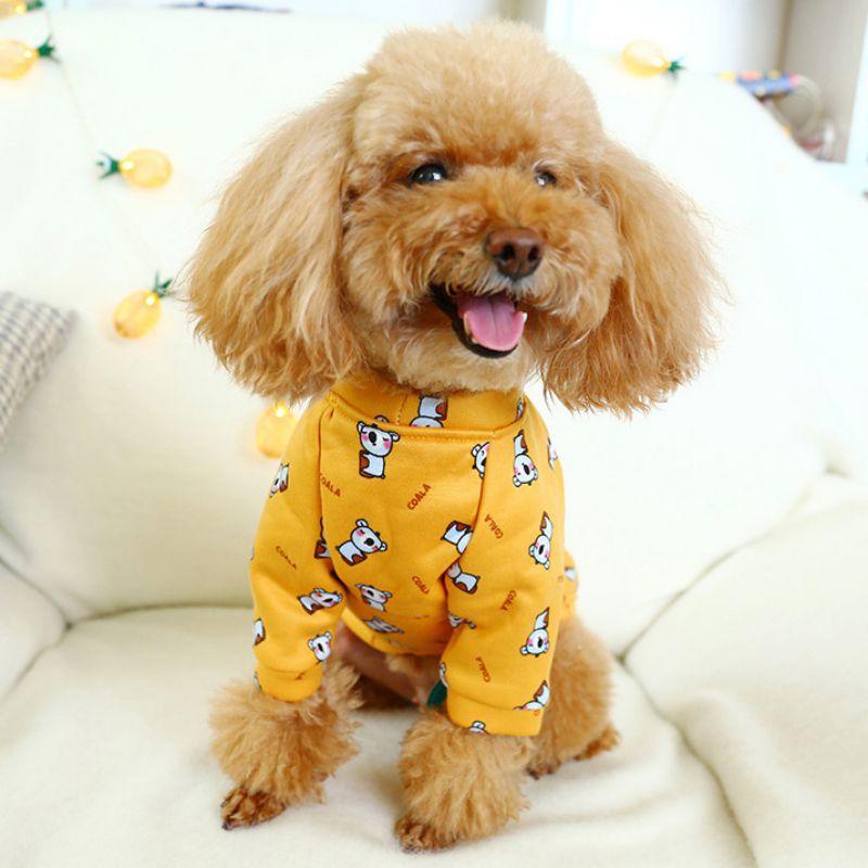 11 Pet костюм теплая одежда на флисе 2 брюки с широкими штанинами, футболка с О образным вырезом Одежда для собак в холодную погоду, аксессуары