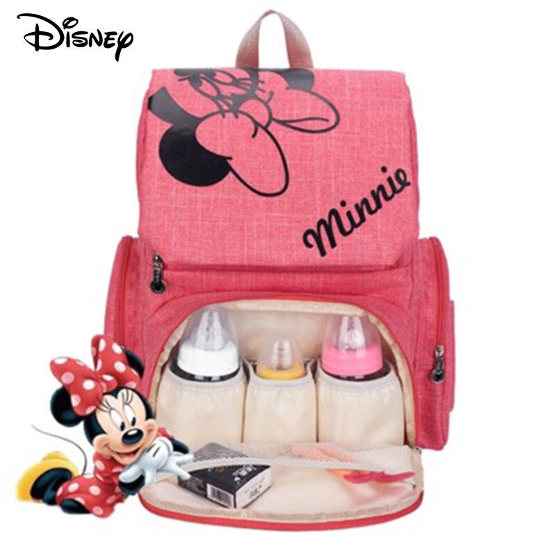 Disney Mickey Minnie couche bébé maman maman sacs maternelle poussette sac Nappy sac à dos maternité organisateur voyage suspendu nouveau-né
