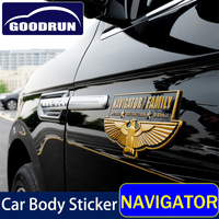 Car Club body Sticker for Lincoln NAVIGATOR 3D Car club commemorative Sticker Emblem Decals EXterior Auto Accessories
