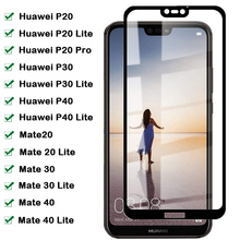 9H Full Cover Protective Glass For Huawei Mate 20 30 40 Lite Screen Protector For Huawei P40 P30 Lite P20 Pro Tempered Glass