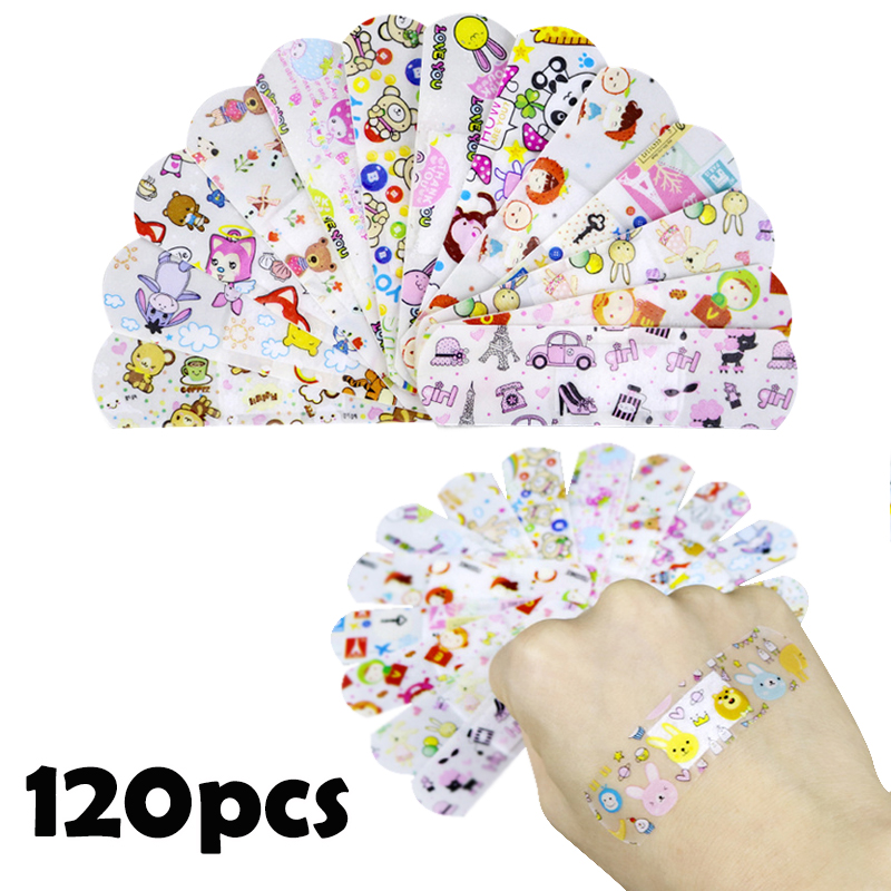 10/120pcs Transparent Medical Patch Waterproof Wound Bandages Cute Breathable First Band Aid Medical Adhesive for Kids