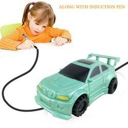 Indukcyjny Mini samochód ciężarowy podążaj za czarnymi liniami rysunkowymi USB elektryczna nauka edukacyjna zabawka z marker prezent dla dzieci DROPSHIP