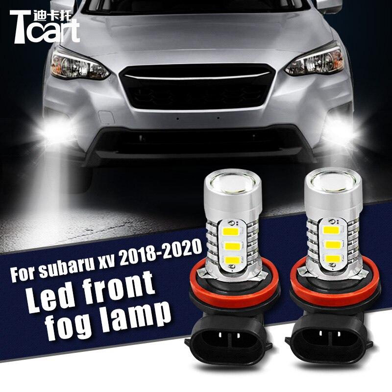 Tcart Car LED Front Fog Light Bulbs For Subaru Crosstrek XV 2018 2019 2020 H11 Auto Led Driving Lamps