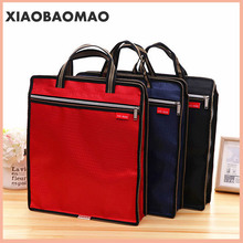 Document-Bag Book File-Folder Business A4 Durable with Handle Zip-Closure Short Travel