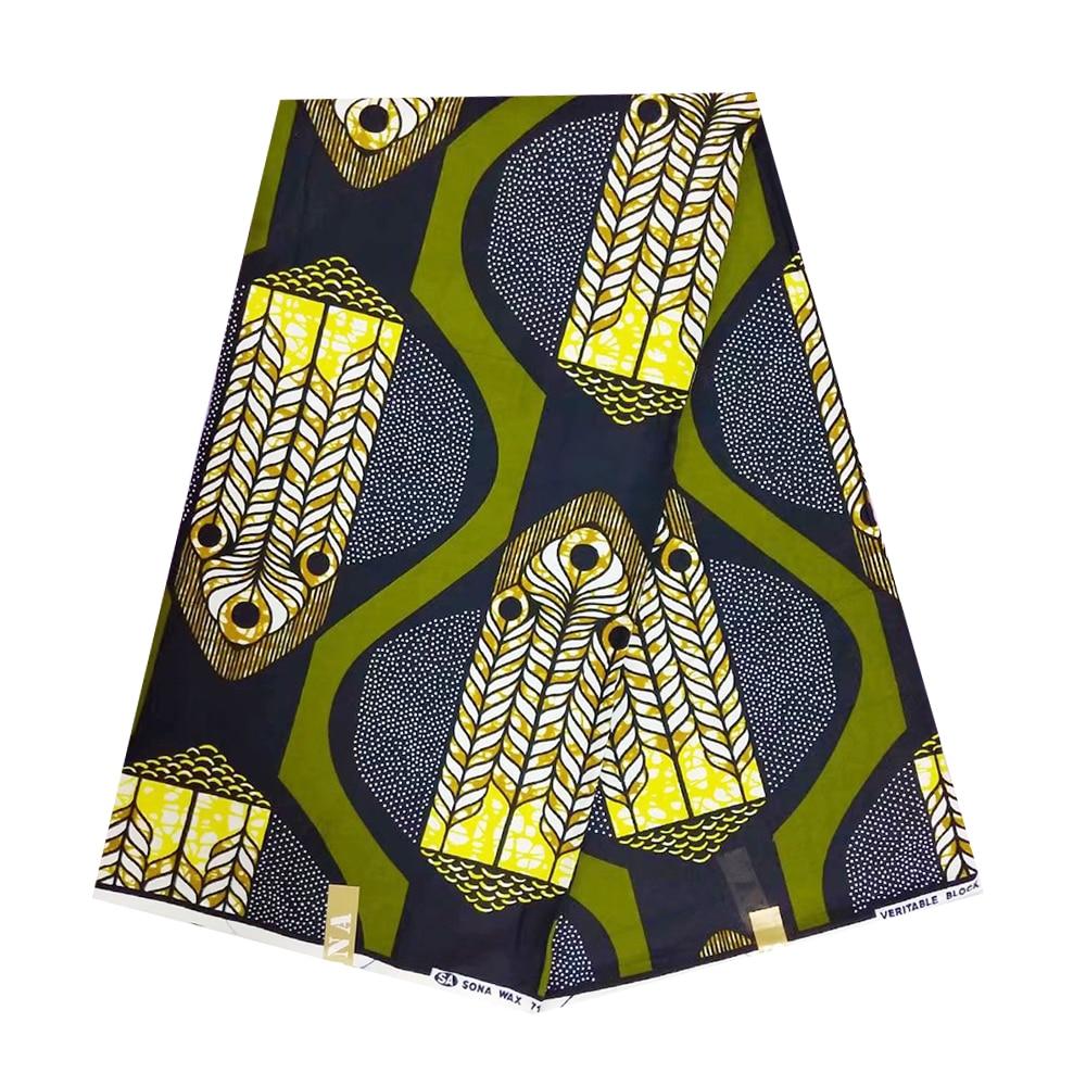 African Fabric Nigerian Fashionable Real Wax African Wax Veritable For Party Pagne Africain Ankara Wax Print Ghana Fabric Cloth
