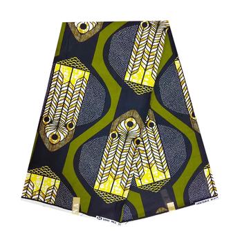 Afrykańska tkanina nigeryjska modna prawdziwa wosk afrykańska woskowana tkanina prawdziwa na imprezę Pagne Africain woskowana ankara drukuj tkaniny Ghana tanie i dobre opinie CN (pochodzenie) Daily
