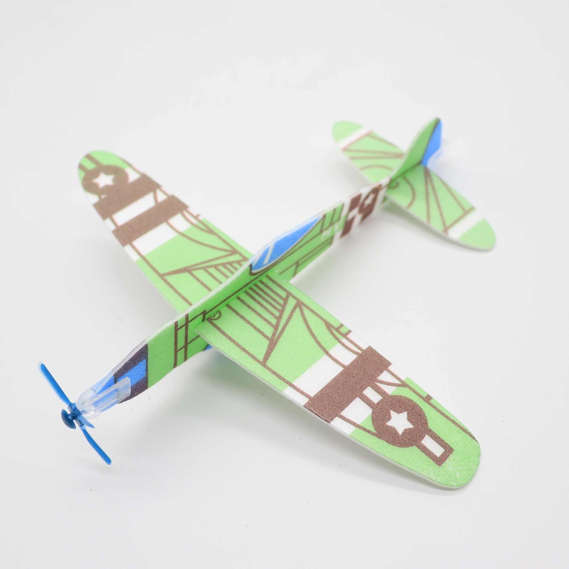 4 ชิ้น/เซ็ตDIYเด็กมินิโฟมHandmadeโยนเครื่องบินบินเครื่องบินเครื่องร่อนเด็กการศึกษาปริศนาของเล่นของขวัญ