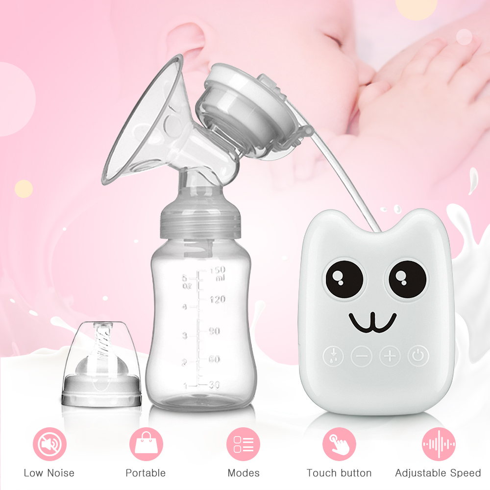 Breast Pumps Bilateral Milk Pump Baby Bottle Postnatal Supplies Electric Milk Extractor Breast Pump USB Powered Baby Breast Feed