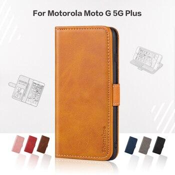 Перейти на Алиэкспресс и купить Откидной Чехол для Motorola Moto G 5G Plus, деловой кожаный роскошный чехол с магнитом, чехол-кошелек для Moto G 5G Plus, чехол для телефона