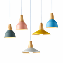 Modern Simple LED Pendant Light Creative Personality Decoration Lighting Foyer Bedroom Metal Wood Macarons Dining lighting chinese cloth dining room bedroom bedside pendant light modern simple restaurant creative personality hotel lighting zh zs125