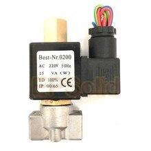 Válvula solenoide de aço inoxidável, frete grátis, VX2120-08-SS-NO