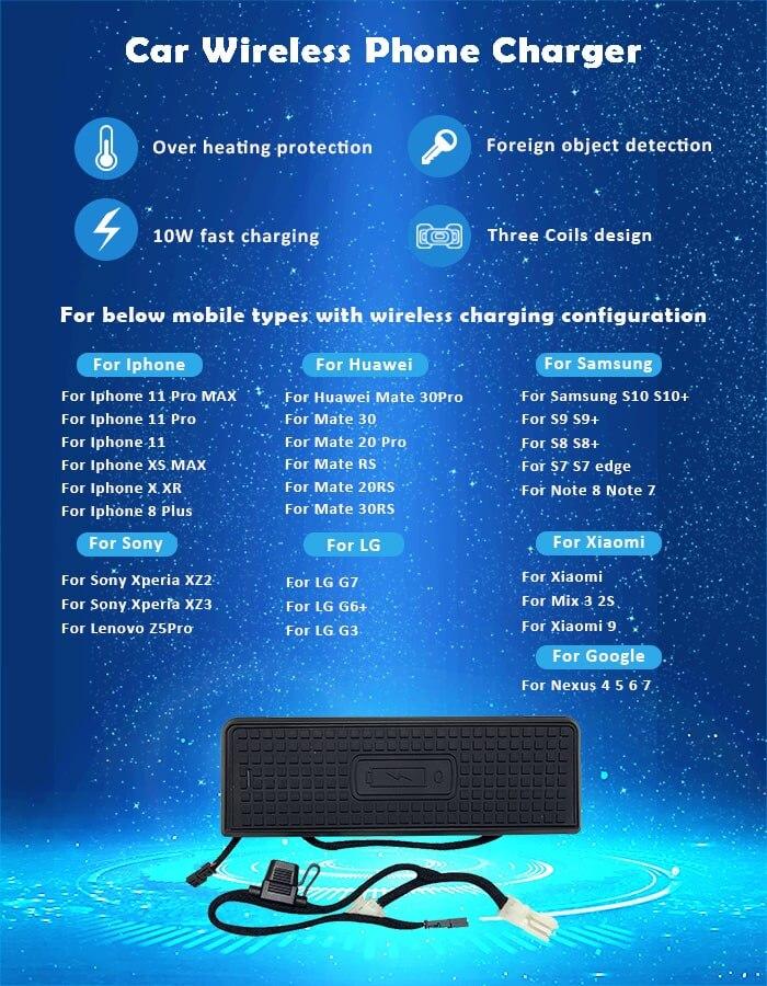 carregador telefone sem fio para bmw f30