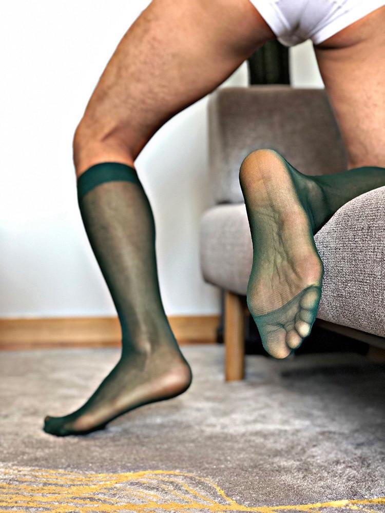 Tube Socks Dress Socks For Men Sheer Socks Exotic Formal Wear Sheer Socks Suit Men Sexy Transparent Thin Business TNT Socks