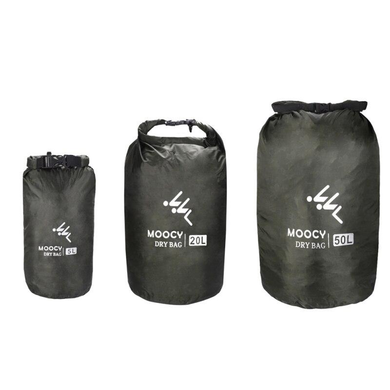 5L/20L/50L Waterproof Dry Bag Roll Top Sack Rafting Boating Swimming Organizer Beach Storage Bag Outdoor Drifting Bag