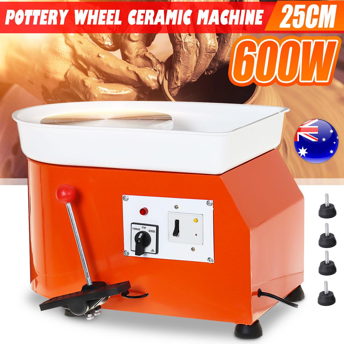 DIY 220V 600W Electric Pottery Wheel Ceramic Machine Foot Pedal Clay Pottery Forming Ceramic Works Art Work Mould AU Plug