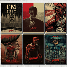 Daredevil Poster Series Marvel Superhero Kraft Posters Painting Wall Art Picture Decoration for Home Decor