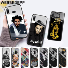 J COLE Glass Case for Samsung S7 Edge S8 S9 S10 Plus A10 A20 A30 A40 A50 A60 A70 Note 8 9 10 harry styles butterfly glass case for samsung s7 edge s8 s9 s10 plus a10 a20 a30 a40 a50 a60 a70 note 8 9 10