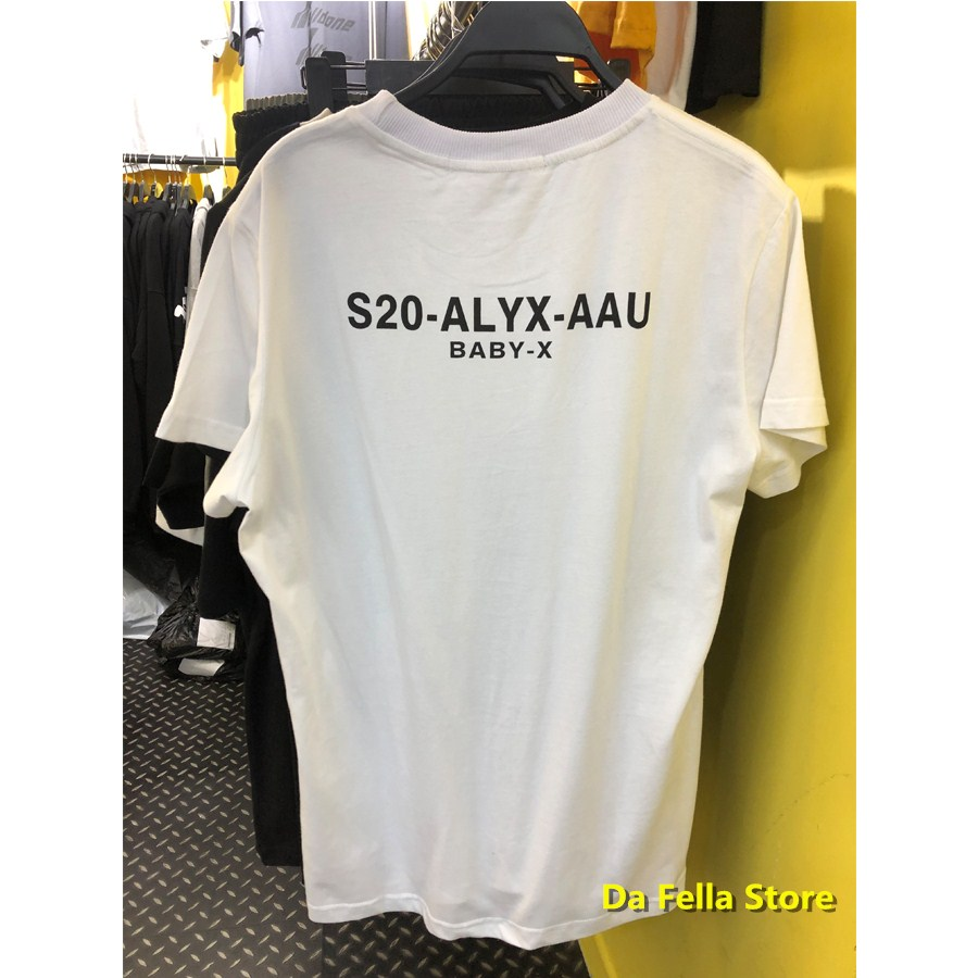 2020SS NEW ALYX Tee 1017 ALYX 9SM Classic T-shirt 1:1 Best Quality Version Black White Casual T-shirts Men Women Tops