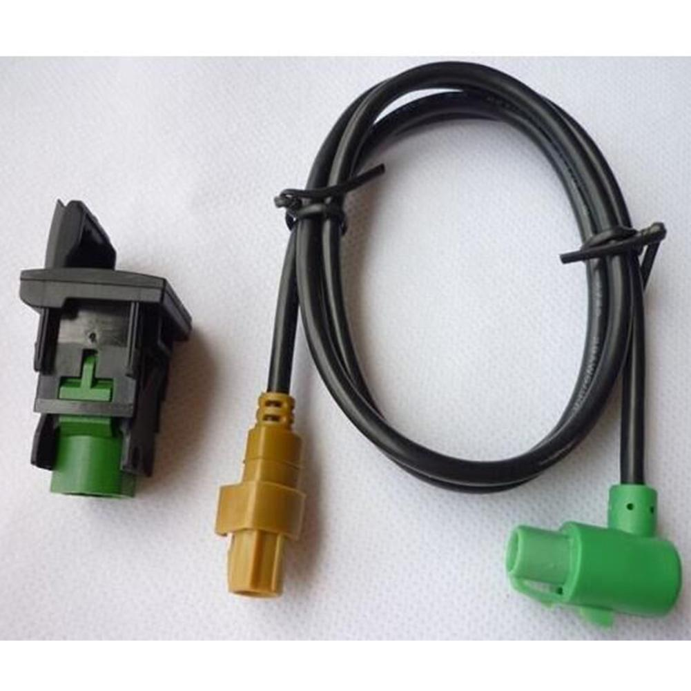 HiMISS 310USB Switch + RCD510 Wire Harness RNS315 RCD510 <font><b>USB</b></font> Switch Cable for VW MK6 <font><b>Golf</b></font> <font><b>6</b></font> Scirocco Jetta image