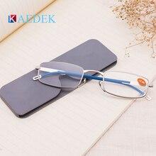 KAEDEK Mini Folding Reading Glasses Portable Men's Women Presbyopic Glasses Mini Glasses Sticky Mobile Phone Case Flexiable nose