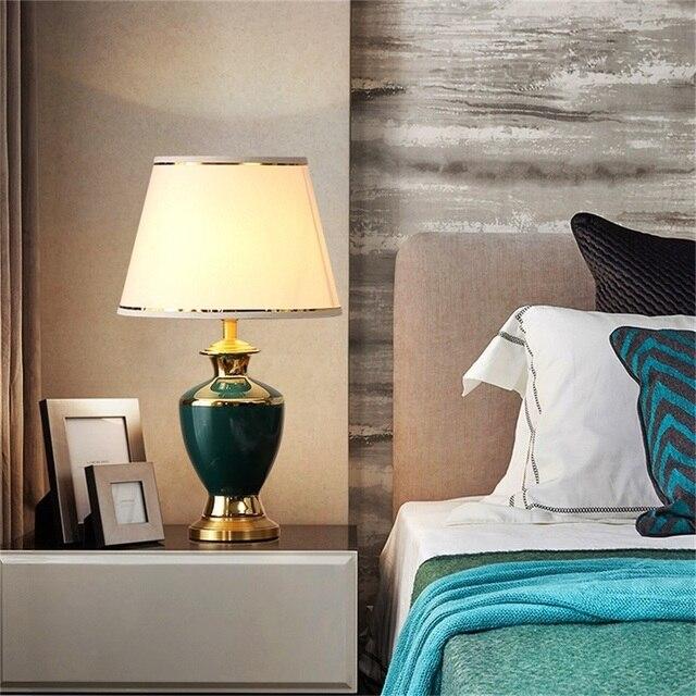 Фото керамические настольные лампы oufula латунный настольный светильник цена
