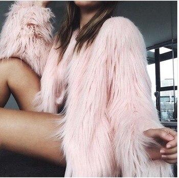 цена на Winter Autumn Women Cardigan Fur Jacket Warm Faux Fox Coat Tops Casual Outwear Overcoat ParkaFur Coats Long Fur Coat