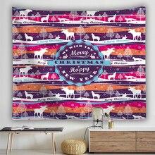 купить Christmas Series Print Wall Hanging Tapestry Cartoon Santa Claus Elk Pattern Tapestries Bedroom Throw Blanket Yoga Mat Decor по цене 498.95 рублей