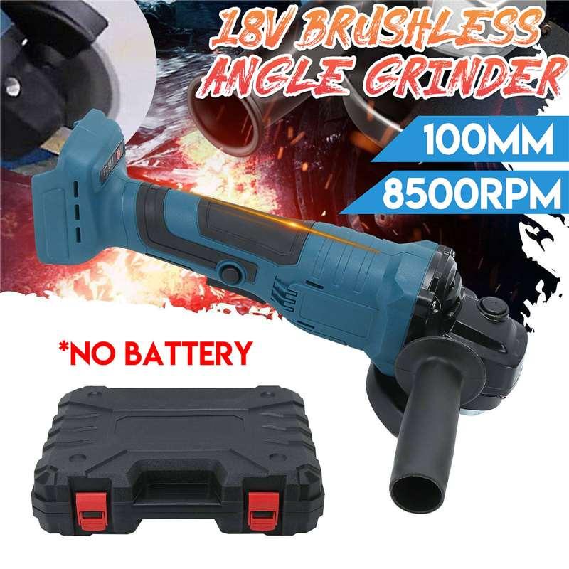 18V 100mm Brushless Impact Angle Grinder Polishing Cordless Cutting Machine Sanding Tool Without Battery For Makita