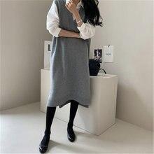 Rugod/винтажное женское плотное трикотажное платье в Корейском