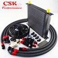AN10 Универсальный 34-рядный фильтр для двигателя масляный охладитель + 7