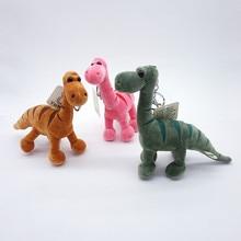 Fashionable Cartoon Plush Dinosaur Key chain Woman Bag Car Pendant Cute chains Childrens Toy Ring
