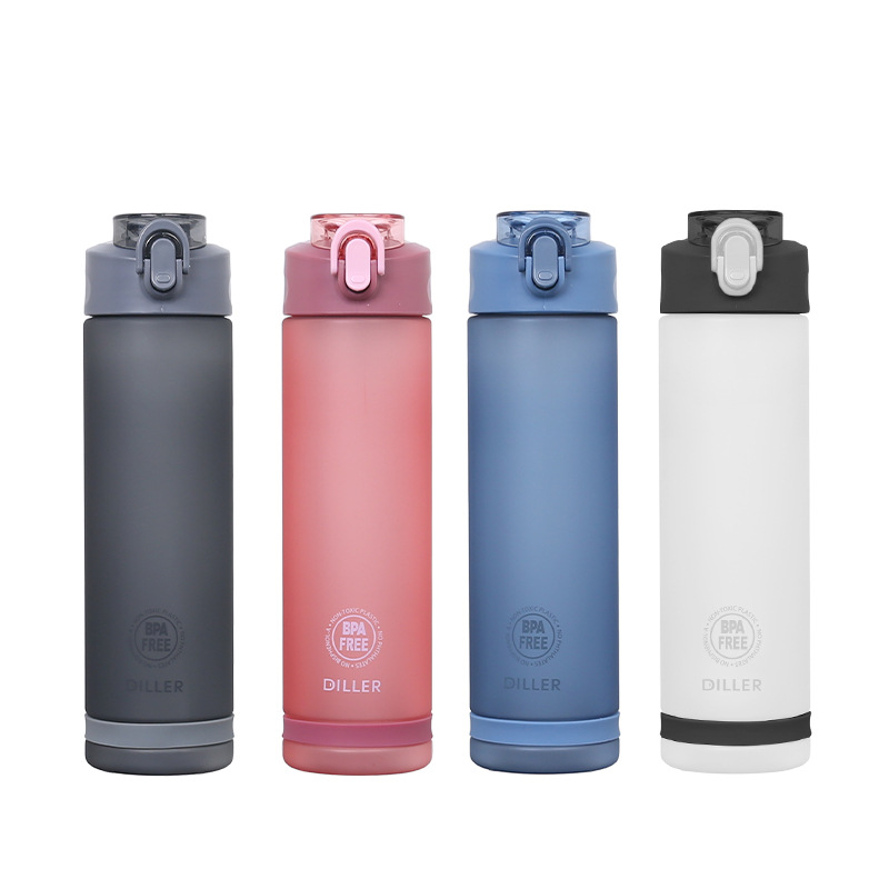 Large Capacity Outdoor Sports Water Bottles with Straw Portable LeakProof Plastic Drinkware BPA Free Drink Bottle Custom Logo in Water Bottles from Home Garden