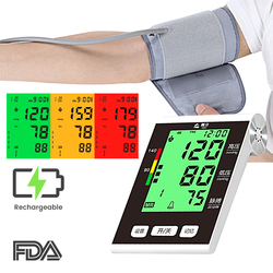BP Upper Arm Blood Pressure Monitor Automatic Sphygmomanometer Blood Pressure Meter Tonometer for Measuring Arterial Pressure