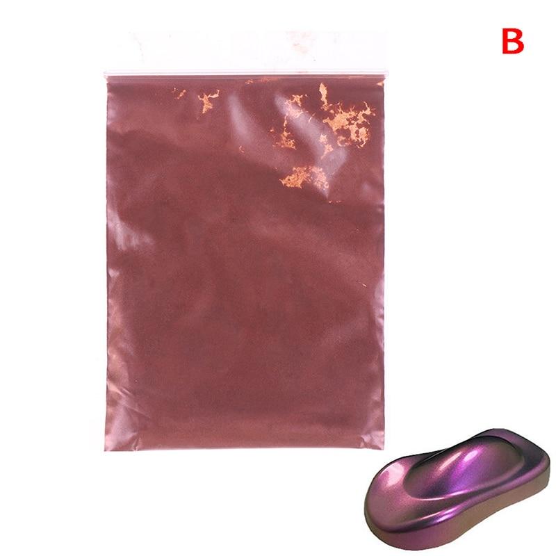 Хамелеон пигмент, блеск для ногтей жемчужный порошок Набор под блески для дизайна ногтей маникюрный набор Советы украшения, автомобильные ремесла, 10 г - Цвет: B
